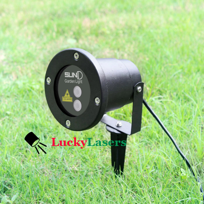 635nm/532nm 20 Patterns Laser Lawn Lamp Outdoor Waterproof Lights