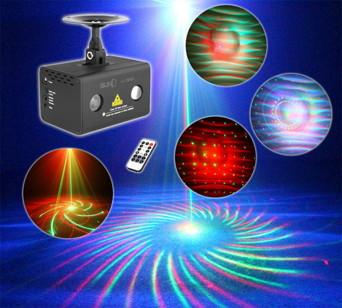 Full color Waterlines Laser light 20 patterns Sound control lamp