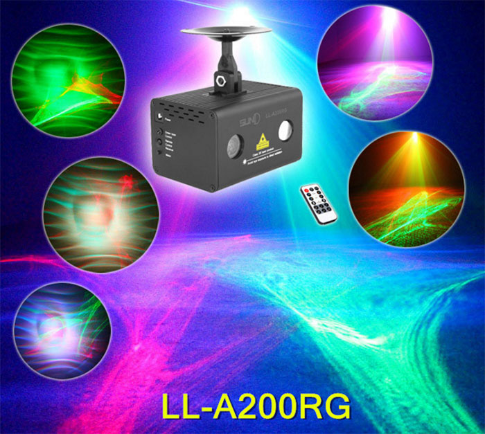 Full color waterlines laser stage Aurora Borealis lights effect