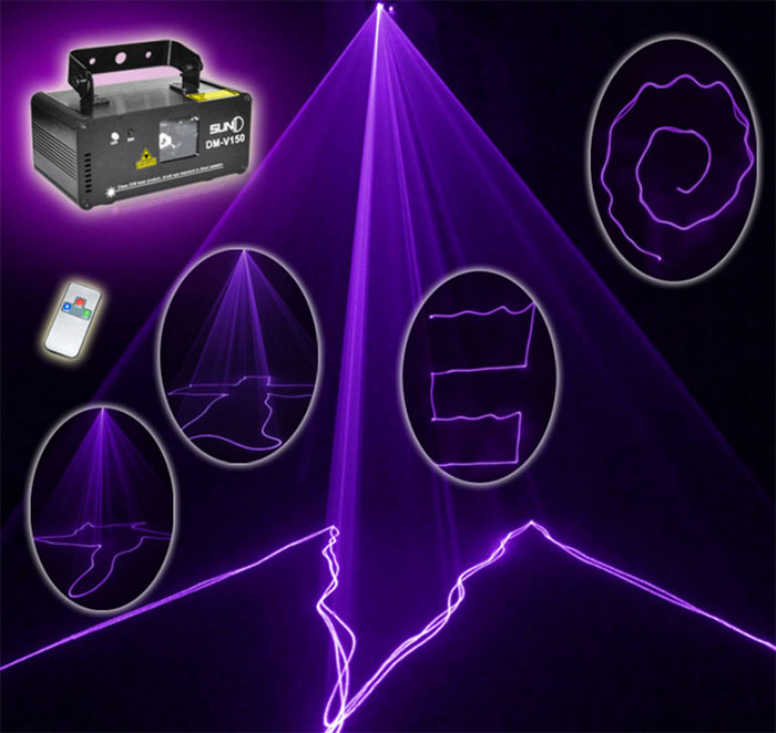 The new violet laser light beam lamp DM V150 KTV flash