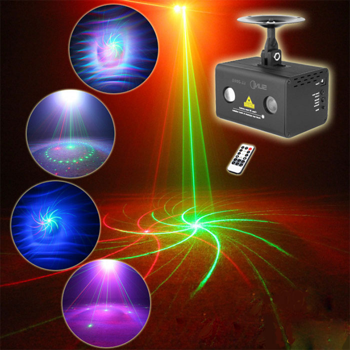 The full color Waterlines laser light red and green laser 9 patt