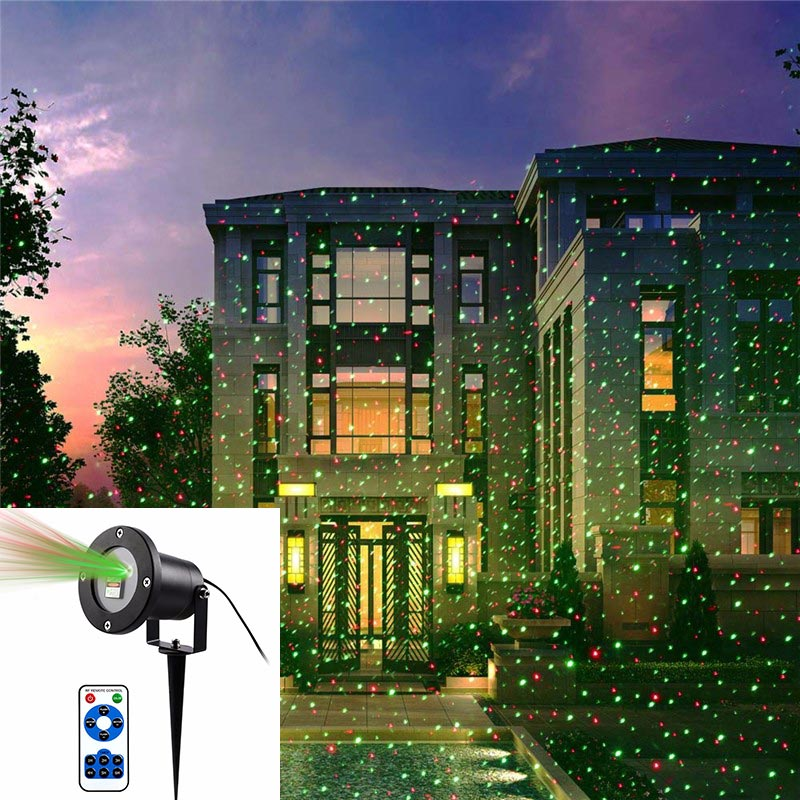 Laser christmas lights Outdoor laser lights Red and Green laser - Click Image to Close