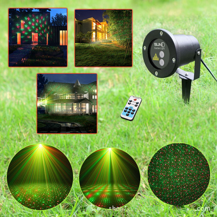 2016 highquality christmas laser lawn lamp Outdoor waterproof