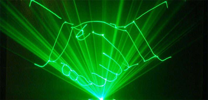 Outdoor laser lights