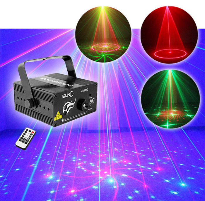3 hole mini laser light 24 patterns KTV laser bar laser stage